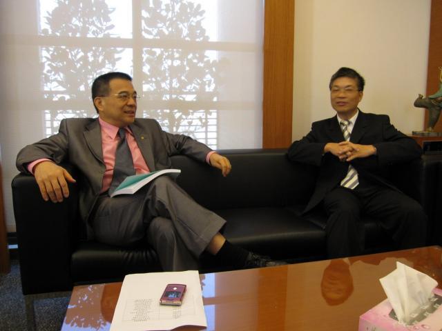全瑞猛理事長 和 古博仁理事長討論高診次培訓相關議題